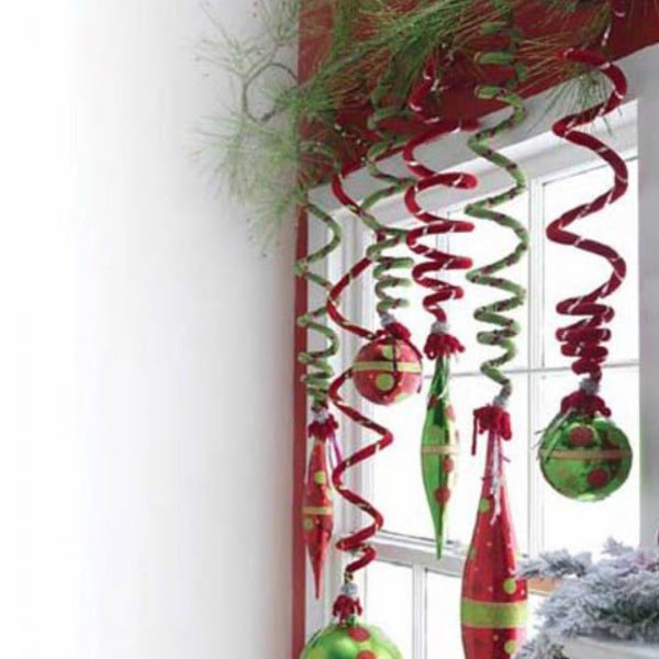 Spiral #Christmas Window Decorations #homedecor