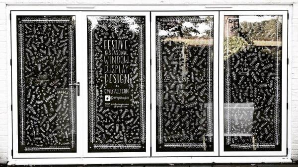 Chalkboard  window decoration