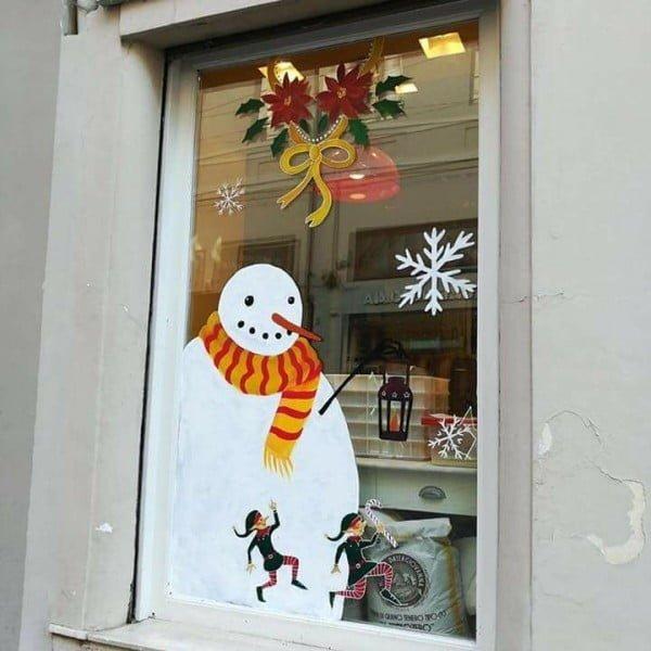 Snowman  window decoration
