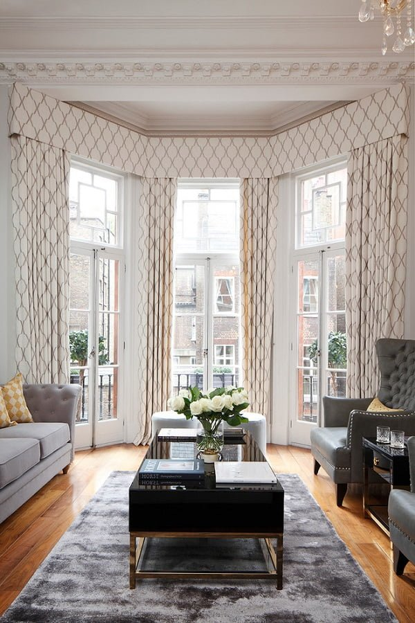 Classic pattern living room curtains