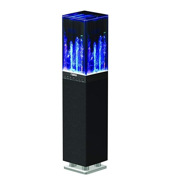 Dancing water tower speaker system