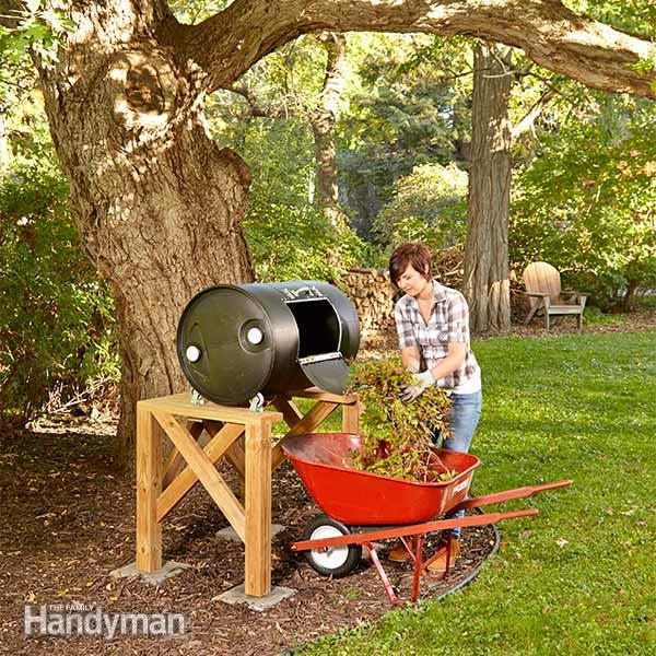 How to make a  barrel tumbler compost bin