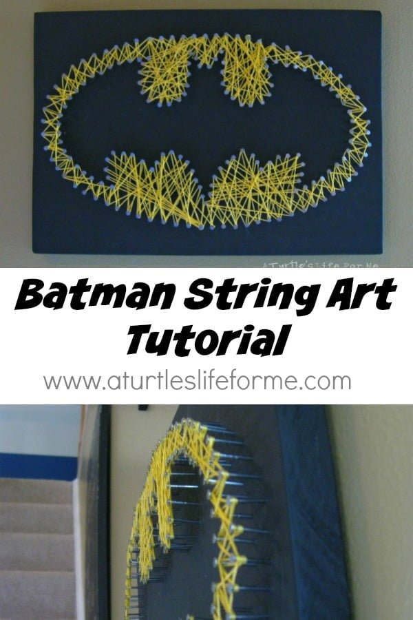 How to make  Batman string art
