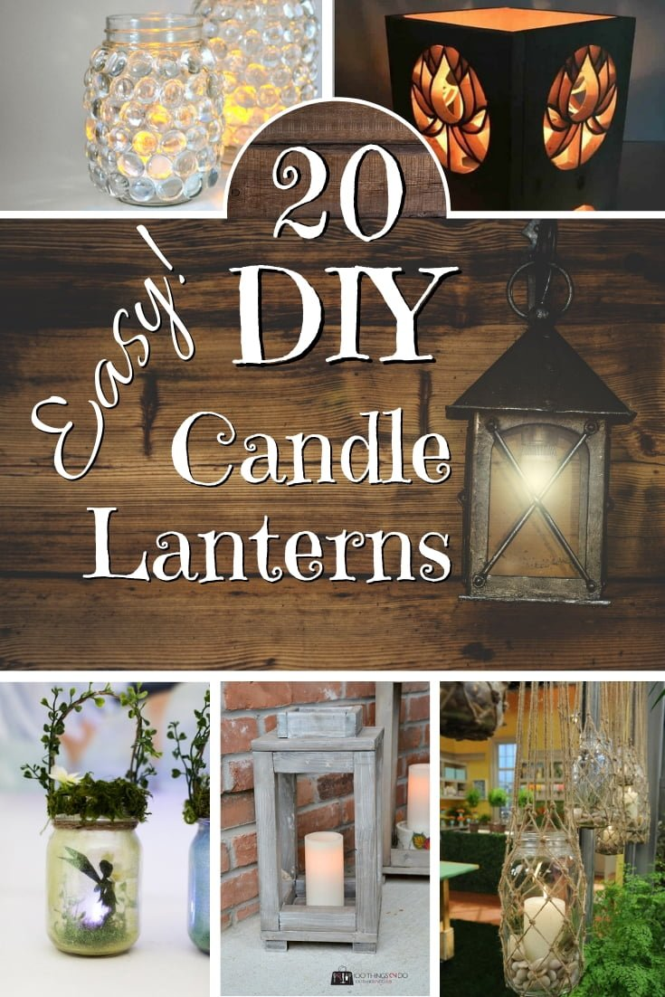 How about making some DIY candle lanterns for magical mood lighting? This is a great list of DIY tutorials! #DIY #homedecor
