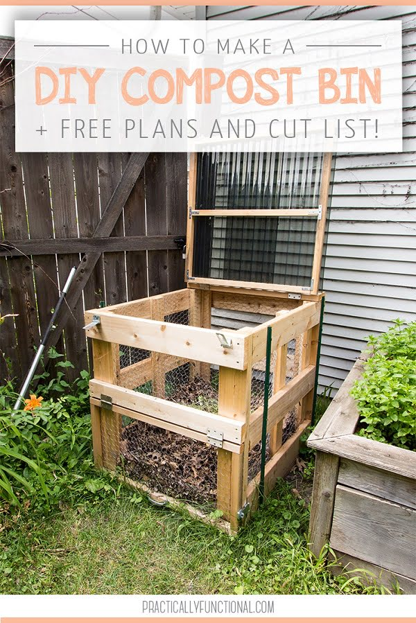 How to make a #DIY chicken wire compost bin #gardening