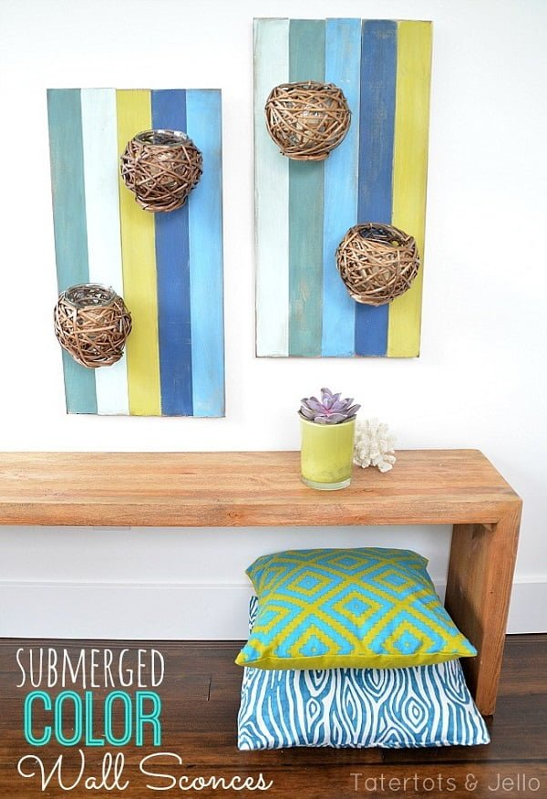 How to make  color wall sconces