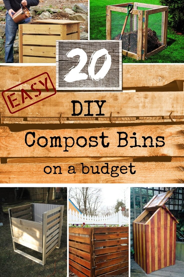 These are some great DIY compost bin ideas for the garden and backyard for anyone looking to start composting. Great list! #DIY #gardening