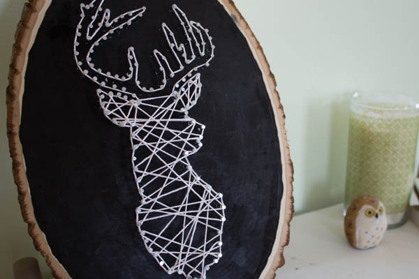 How to make  deer string art