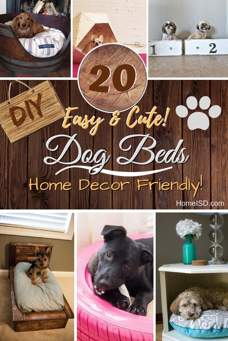 Keep your furry friends happy and your home decor nice and tidy with these remarkable DIY dog beds. Great list! #DIY #woodworking #nosew #pets