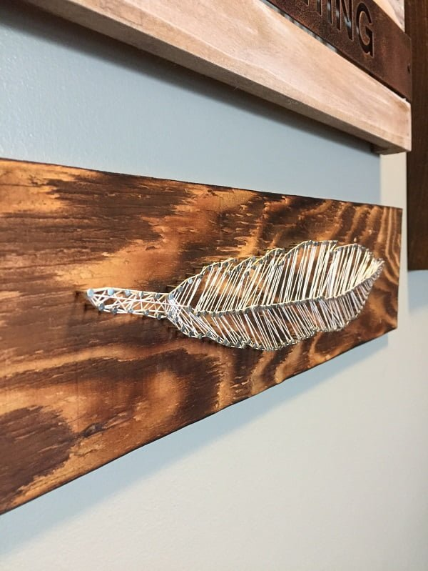 How to make  feather string art