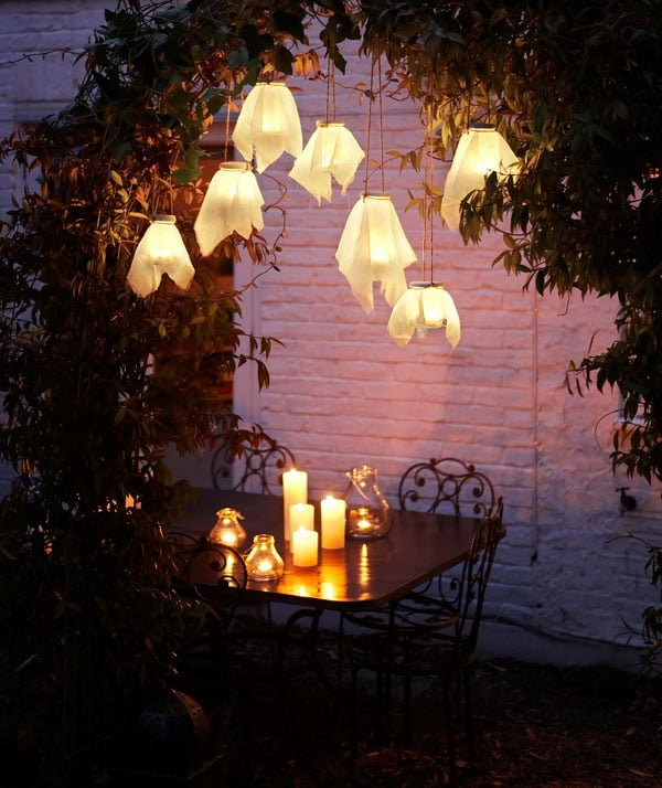 How to make #DIY firefly glass lanterns #homedecor