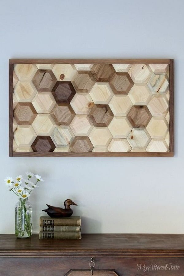 How to make  geometric wall art for