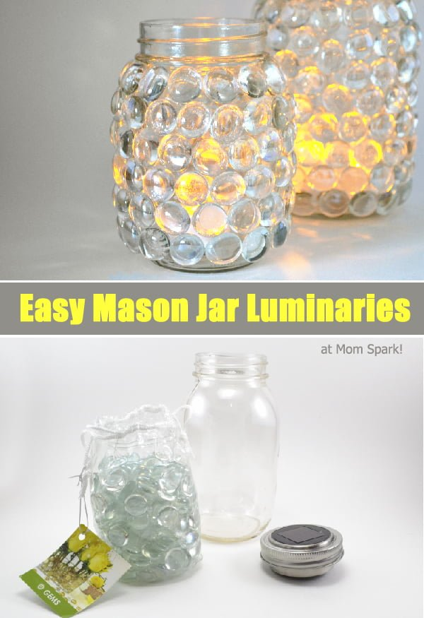 How to make #DIY mason jar luminaries #homedecor