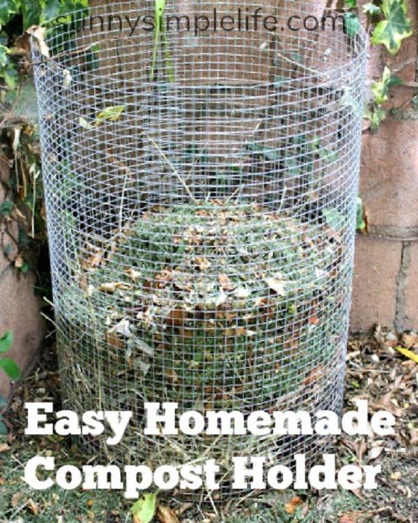 How to make a  mesh compost bin