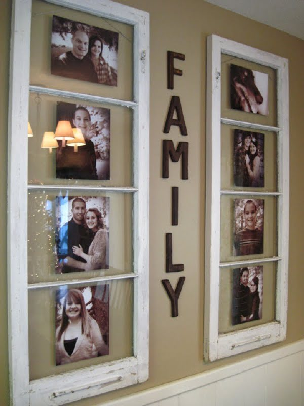 How to make #DIY gallery wall from old windows #homedecor