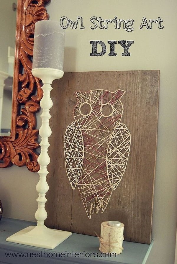 How to make  owl string art