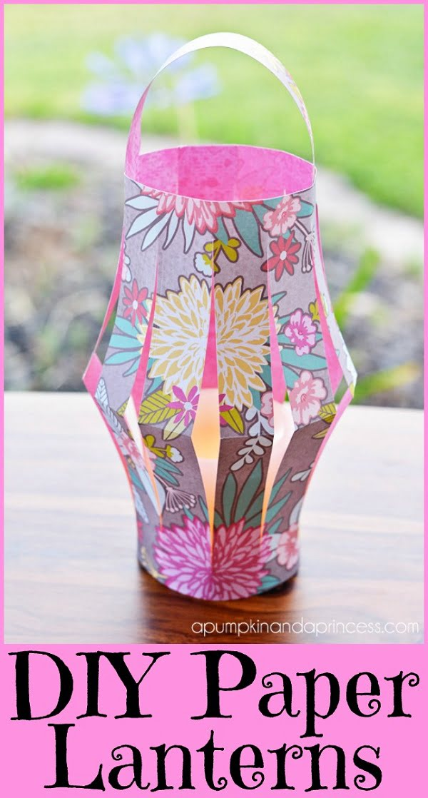 How to make #DIY paper craft lanterns #homedecor