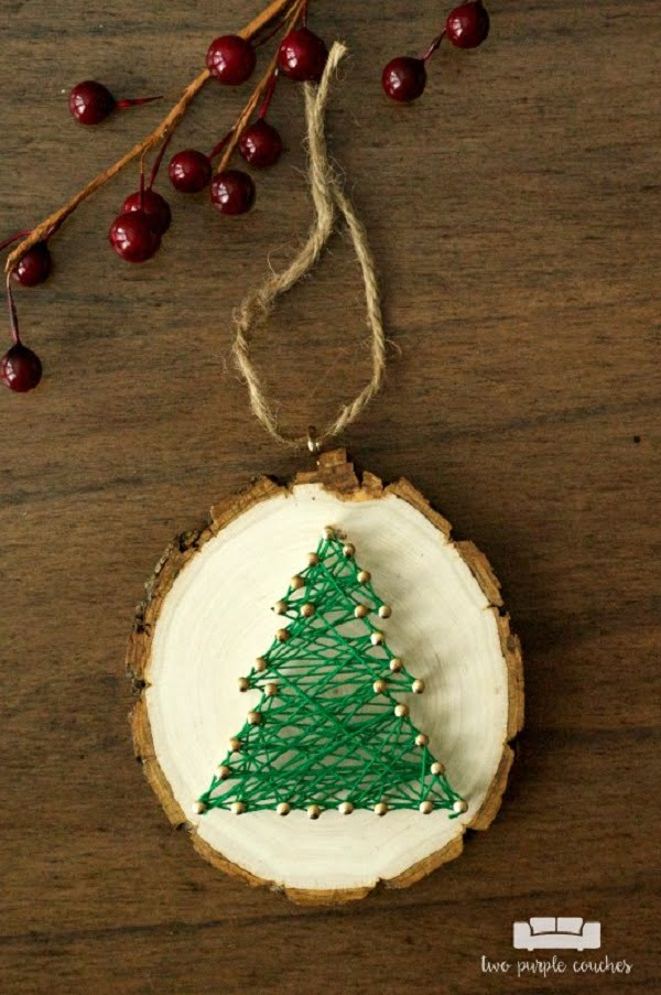 How to make  Christmas ornament string art