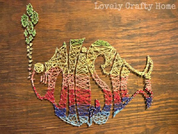How to make  fish string art