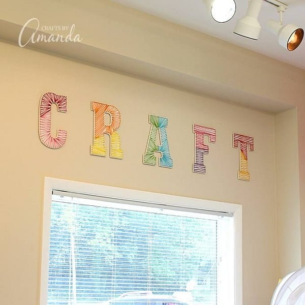 How to make  wall letter string art