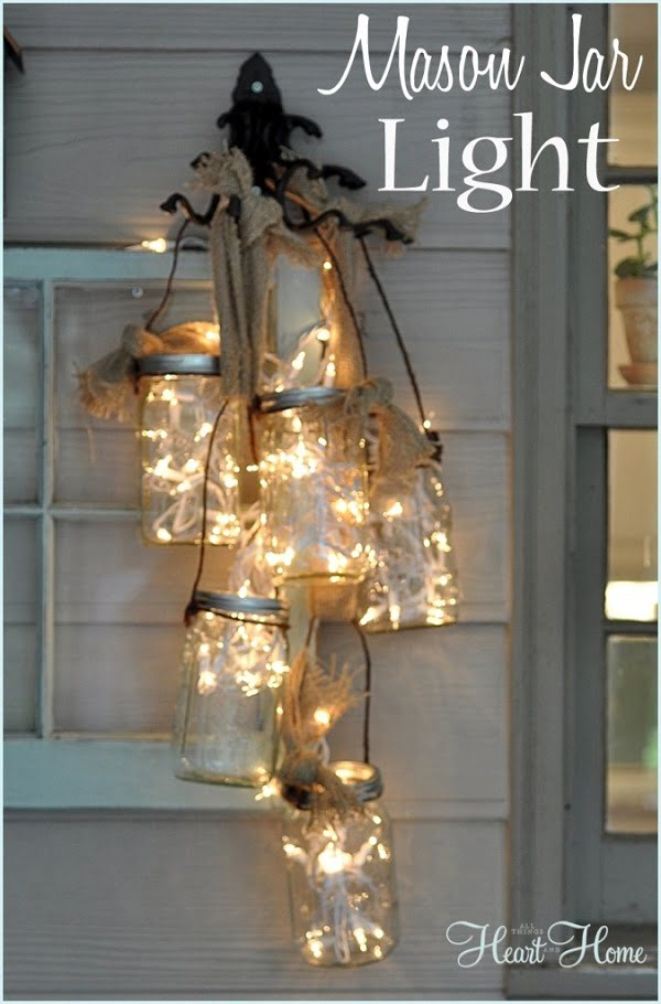 How to make #DIY string light lanterns #homedecor
