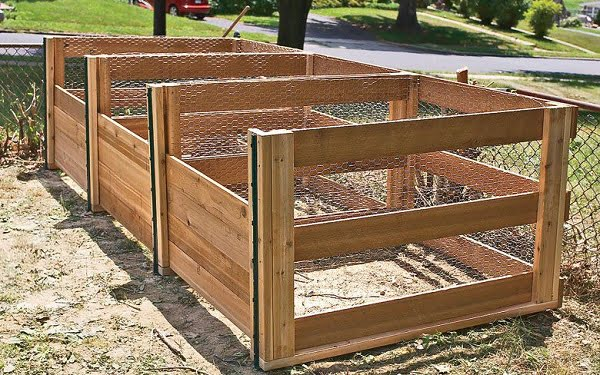 How to build a #DIY 3 part compost bin #gardening