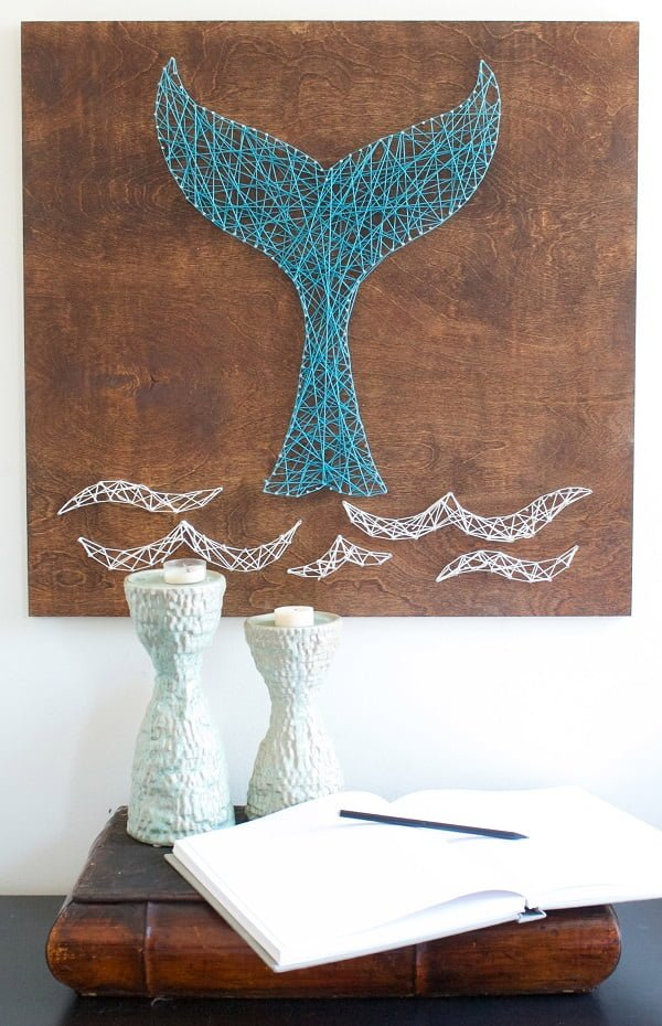 How to make  whale string art