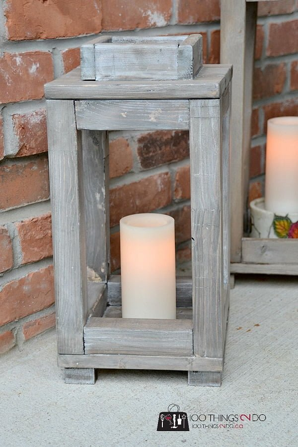 How to make #DIY wood lanterns #homedecor