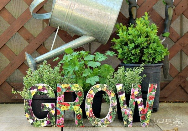 How to make a  wood letter garden sign