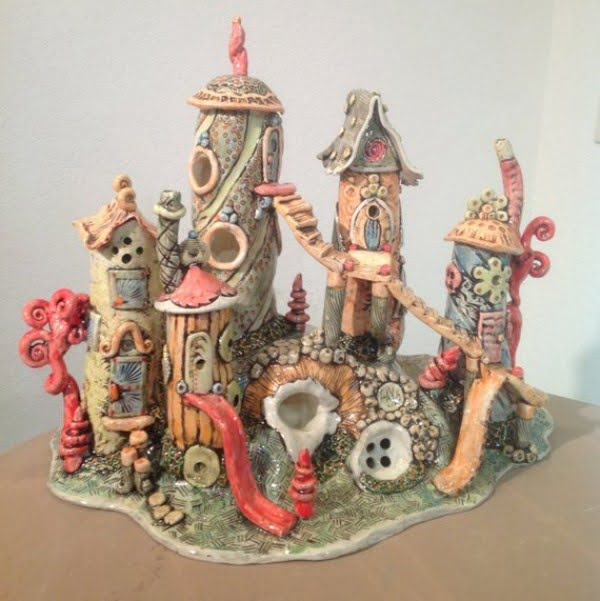 Fairy House Aquarium Decoration