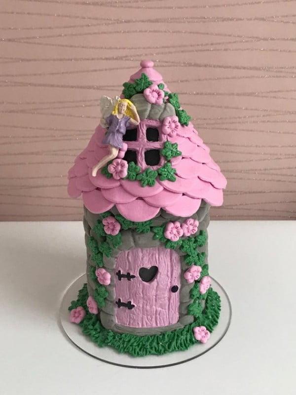 Pink Fairy House #gardenart