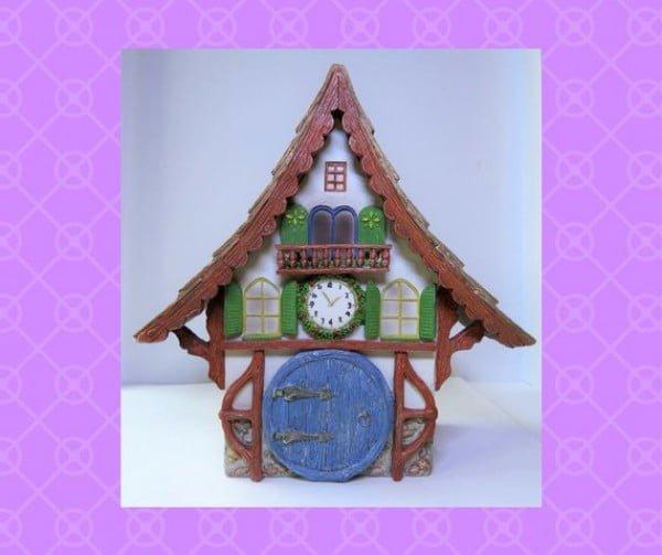 Cuckoo Clock Fairy House #gardenart