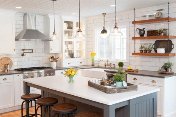 Industrial farmhouse lighting pendants #homedecor