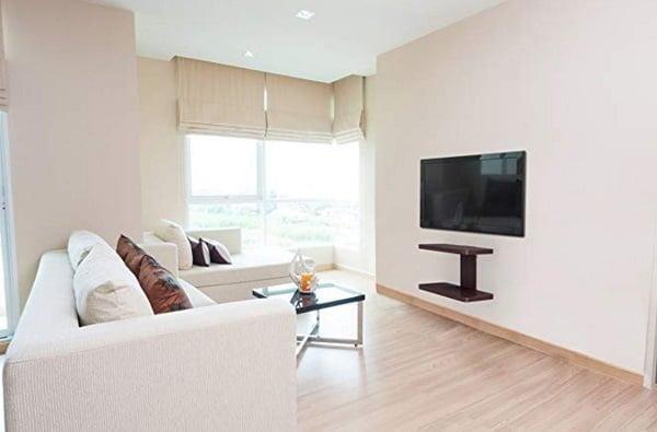 Floating solid wood TV Shelf