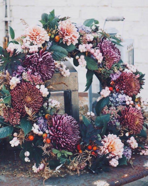 Boho Autumn Floral Wreath #wreaths