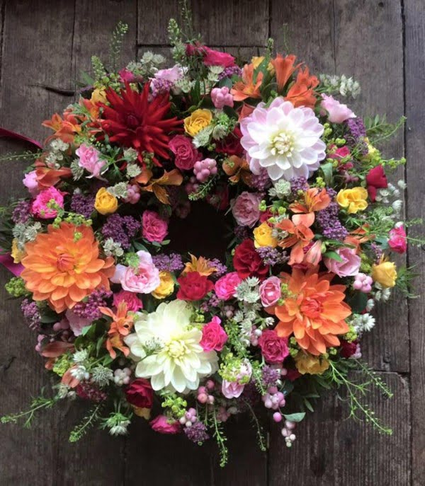Mixed Flower Wreath Idea