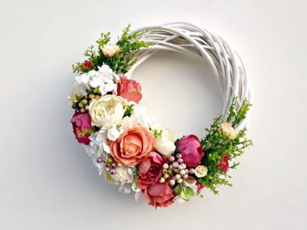 Artificial Rose Floral Wreath Idea #wreath