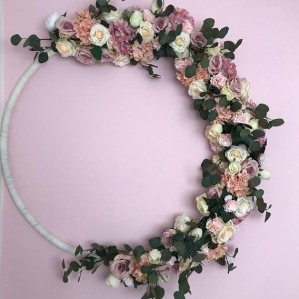 Mini Flower Wreath Idea #wreaths