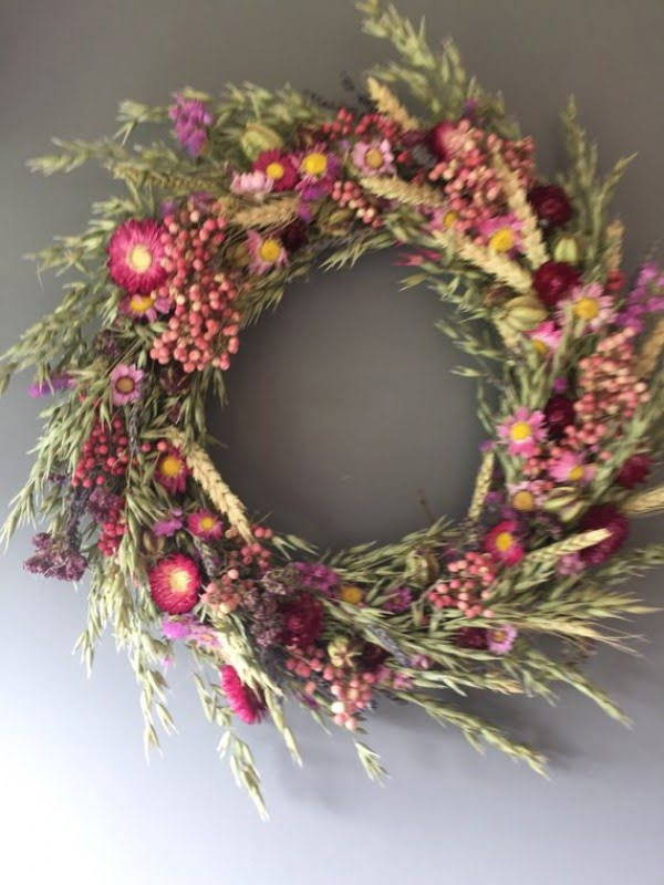 Dried Flower Wreath Idea