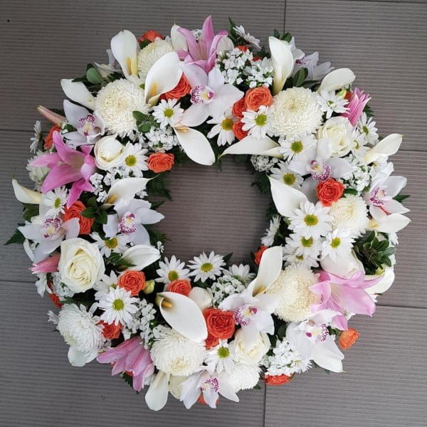 White Flower Wreath Idea