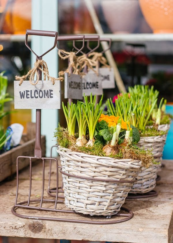 Flower basket #garden sign
