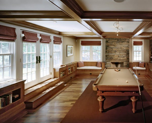 Traditional Classic Game Room Idea #homedecor