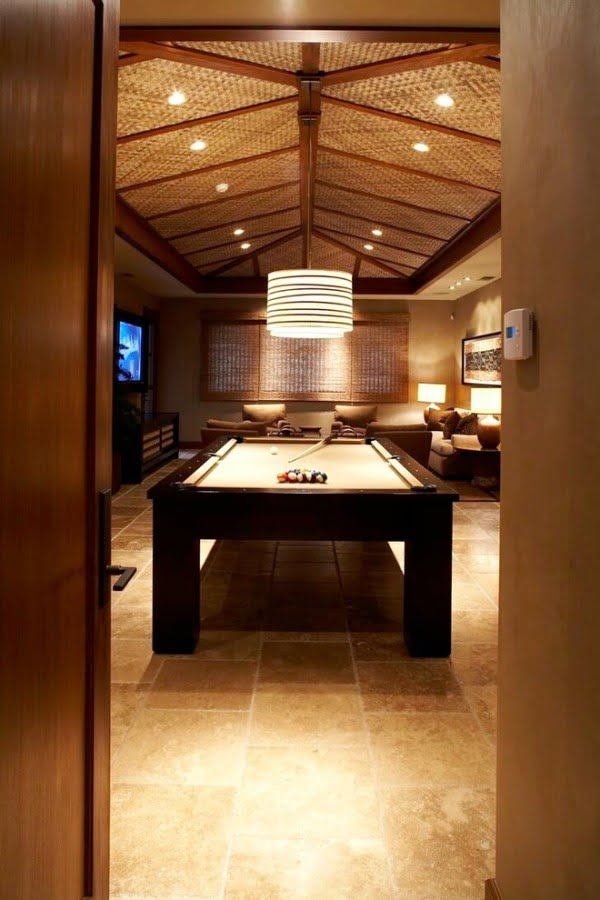 Tropical Themed Game Room Idea #homedecor