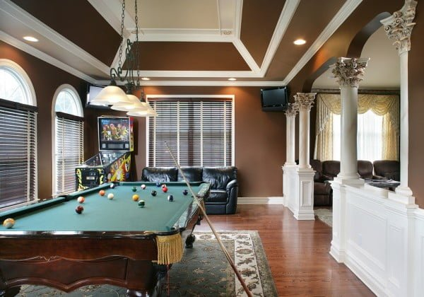 Classic and retro themed game room idea #homedecor