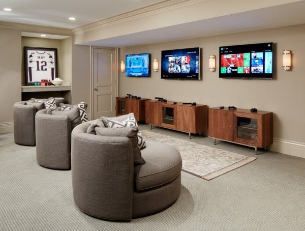 Family friendly game room idea #homedecor