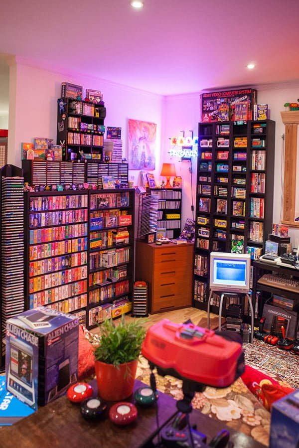 Retro video game collection decor #homedecor