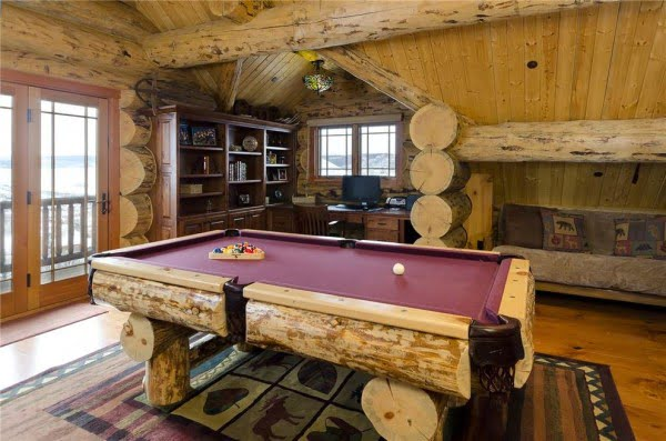 Rustic Cabin Game Room #homedecor