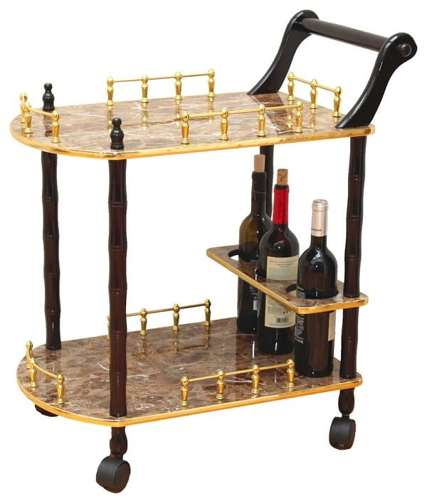 Gold marble tea cart