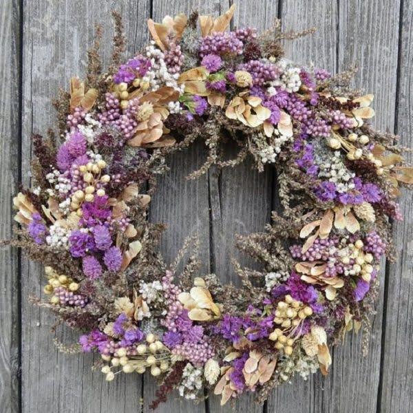 Grass Floral Wreath Idea #homedecor