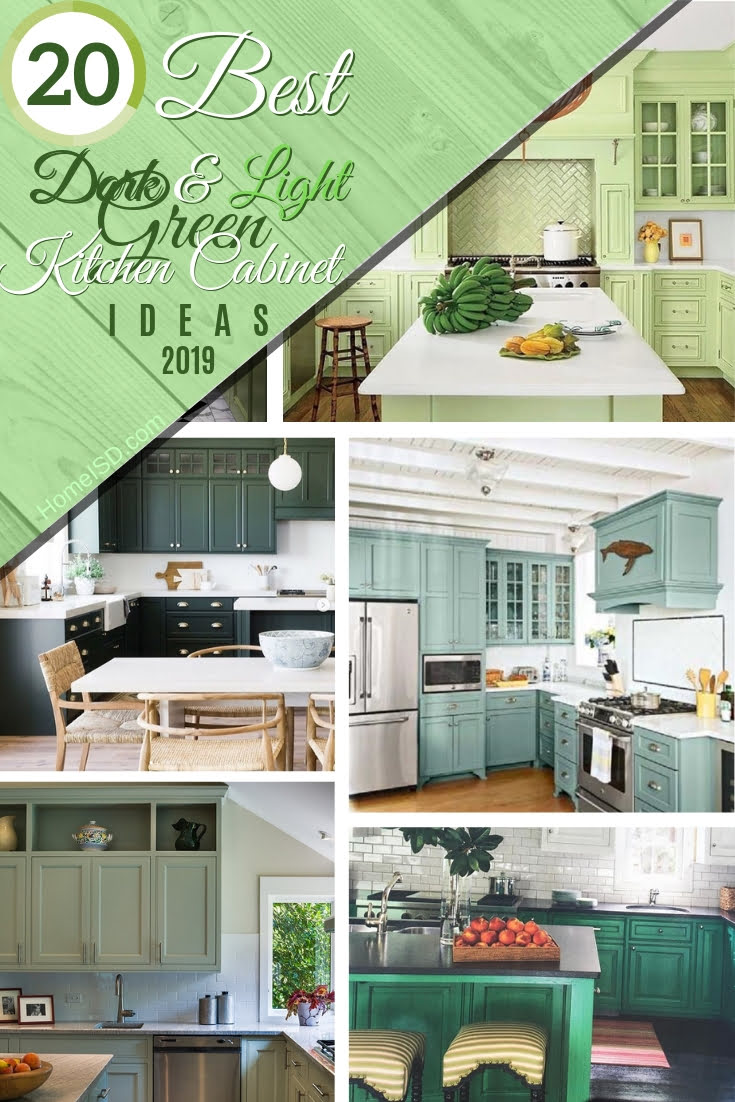 Fancy green for your kitchen cabinets? Here are the top 20 best ideas of green kitchen cabinets in 2019! #homedecor #kitchendesign